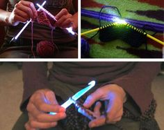 LED knitting needles and crochet hooks... what?!? SO awesome!