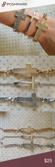 Cross bracelet set Three awesome bracelets! Jewelry Bracelets