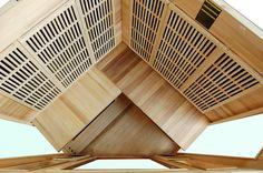 Infrared Home Saunas Home Infrared Sauna, Canadian Hemlock, Saunas, Corner, Wood, Interior, Woodwind Instrument, Indoor, Timber Wood