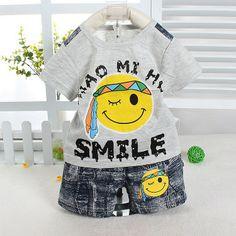 bebe baby boys smile face short sleeve tshirt t-shirts + shorts short pants clothing sets babies kids child clothes set outfits $14.55 - 15.87 Prince Clothing, Clothing Sets, Pants Outfit, Outfit Sets, Baby Boys, Kids Boys, Bebe Baby, Joko, Smile Face