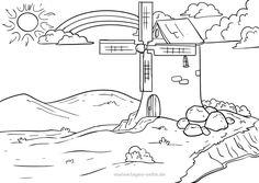 ανεμομυλος στο νηπιαγωγειο - Αναζήτηση Google Painting For Kids, Diagram, Prints, Outline, Art, Google, Corona, Fish Template, Stay At Home