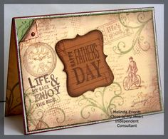 Melinda Everitt CTMH Father's Day Card - Background challenge