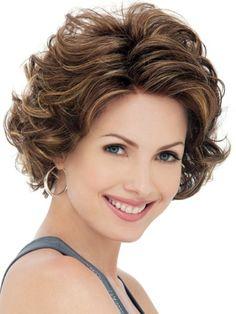 Curly Medium Layered Hairstyle