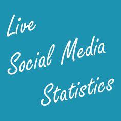 [Live] Social Media Statistics Social Media Counter created by Gary Hayes. Social Media Statistics, Social Media Tips, Social Networks, Social Media Marketing, Digital Marketing, Pinterest For Business, Social Anxiety, Media General, Infographic