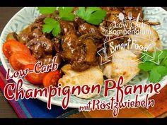 Low-Carb Champignon-Pfanne mit Röstzwiebeln & Hähnchenbrust