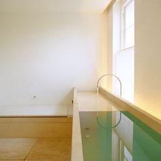 A genius Bath/Sink/Toilet/Bidet arrangement by British architect and designer John Pawson. Photographed by Ken Hayden