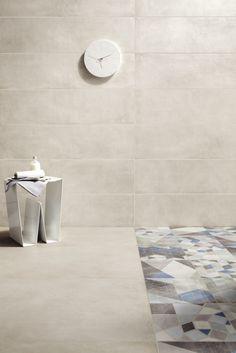 Pavimento/rivestimento in gres porcellanato effetto cemento ONE GESSO by Ceramiche Caesar