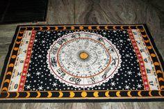 Zodiac Indian Throw Art Tapestry Wall Hanging Hippie Astrology Mandala Bedspread #Handmade #BedspreadTapestry Tapestry Wall Hanging, Bedspread, Astrology, Zodiac, Mandala, Rugs, Handmade, Home Decor, Art