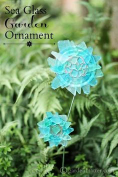 Learn how to make this fun and affordable sea glass ornament for the garden. It's an easy craft that will add a little whimsy in your garden.