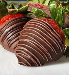 strawberry with chocolate