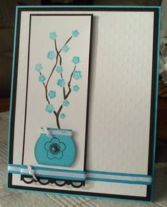 IC321 Everything Turquoise Blooms by arlybeans - Cards and Paper Crafts at Splitcoaststampers