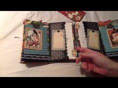 Graphic 45 mini album gatefold - YouTube