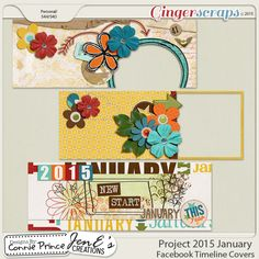 Project 2015 January - Facebook Timeline Covers from Designs by Connie Prince January 2015