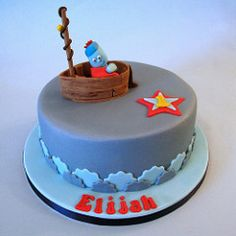 Igglepiggle (In the Night Garden) Cake (Cakes By Jacques) Tags: blue red boys yellow cake night garden star boat waves 1stbirthday iggle piggle childrenscake kidsbirthdaycake inthenightgarden igglepiggle chocolatekidscake cakesbyjacques
