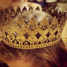 Lace tiaras. Done the right way! Baked in the oven. Click for instructions!