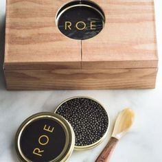 ROE Caviar's gift set packaging is the perfect gift under $150. In the Neiman Marcus Holiday Guide, Holiday 2016.