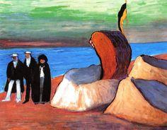 The Baltic Sea at Prerow - Marianne von Werefkin - The Athenaeum Franz Marc, Edvard Munch, Paul Klee, Ilya Repin, August Macke, Emil Nolde, Max Ernst, Wassily Kandinsky, Henri Matisse