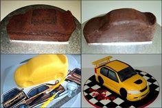 How to make an evo 7 car cake в 2019 г. food camera cakes, c Car Cakes For Men, Race Car Cakes, Cakes For Boys, Cake Decorating Techniques, Cake Decorating Tutorials, Fondant Cakes, Cupcake Cakes, Cupcakes, Car Cake Tutorial
