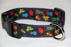 Adjustable Dog CollarBugs by HandmadeInTheHammer on Etsy, $15.00