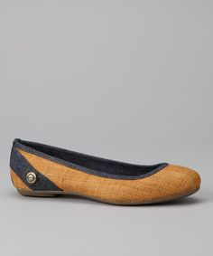 Fashion, fit and functionality: the three f's expected from flats. Detailed with denim and burlap, this simple silhouette will keep tootsies stylin' and scrumptiously satisfied. Oh-so-versatile, they'll pair with jeans, skirts, shorts and more. 0.25'' heelTextile upperMan-made soleImpo...