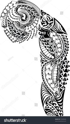 Tribal arm chest tattoo stock illustration 72499540 - Famous Last Words Tattoo Maori Brazo, Maori Tattoo Frau, Maori Tattoos, Marquesan Tattoos, Irezumi Tattoos, Samoan Tattoo, Sleeve Tattoos, Tribal Chest Tattoos, Tribal Shoulder Tattoos