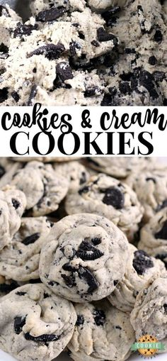 Cookies & Cream Cookies are made with pudding mix and Oreo cookies for a perfect. - Cookies & Cream Cookies are made with pudding mix and Oreo cookies for a perfect. Cookies & Cream Cookies are made with pudding mix and Oreo cookies. Cookies Oreo, Oreo Pudding Cookies, Oreo Pudding Dessert, Chocolate Cookies, Sugar Cookies, Cookies And Cream Cake, Oreo Dessert Easy, Fun Cookies, Foods