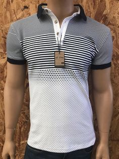 Playera tipo polo Tnt Jeans Polo Rugby Shirt, Mens Polo T Shirts, Blue Polo Shirts, Camisa Polo, Polo Outfit, Printed Tees, Kids Wear, Mens Fitness, Lacoste