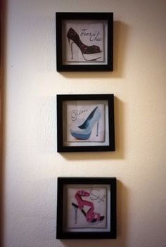 Cute wall frames! Perfect for a skinny wall