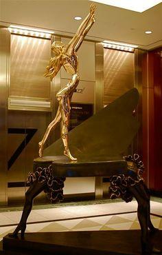 """Surrealist Sculpture.  """"Surrealist Piano""""  Artist: Salvador Dali.  #dali #art #sculptures"""