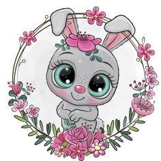 Pug, Unicorns, Free Vector Images, Vector Free, Cute Cartoon Animals, Flower Frame, Art Boards, Hello Kitty, Teddy Bear