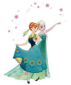 """egipciaca: """"Transparent 2D Anna and Elsa from Frozen Fever. """""""