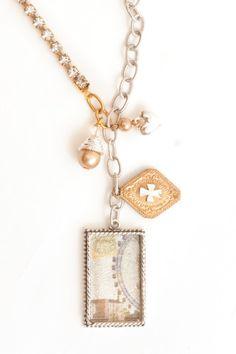 Nunn Design || Inspiration Gallery || Necklaces || Mixed-Media - Rhinestone Chain - Transfer Sheets