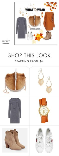 """One bag and two looks for fall"" by andreadaugherty ❤ liked on Polyvore featuring Ted Baker, Isa Arfen, Tory Burch, JustFab, Marc Jacobs and MM6 Maison Margiela"