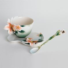 Franz Cup Saucer - Franz Collection Apple Blossom Cup, Saucer & Spoon Set