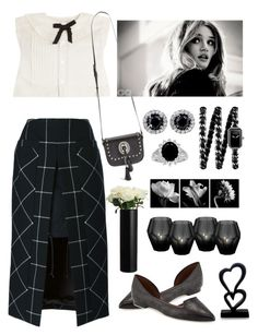 """It's All In Black & White"" by naviaux ❤ liked on Polyvore featuring Maison Margiela, Sacai, Cole Haan, Yves Saint Laurent, Chanel, Eichholtz, NOVICA and John Lewis"