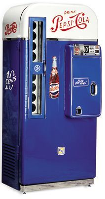 Pepsi machines seen at gas stations