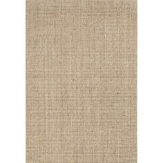 Jaipur Rugs Naturals Solid Pattern Taupe/Tan Sisal Area Rug NAS02 (Rectangle)