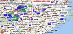 SwimmingHoles.info North Carolina Swimming Holes and Hot Springs rivers creek springs falls hiking camping outdoors