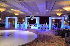 Club Theme Bar Mitzvah Event Decor Glowing Teen Area White Dancefloor Blue & Silver Color Scheme Party Perfect Boca Raton, FL 1(561)994-8833