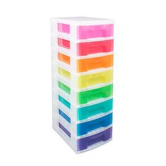 Really useful #storage #plastic boxes 8 x 7 litre clear #tower rainbow drawers,  View more on the LINK: http://www.zeppy.io/product/gb/2/282127485097/