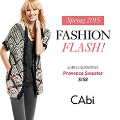 CAbi spring pieces:-) Yours in January at 1/2 price with a booked Feb. show date!!! www.jeanettemurphey.cabionline.com