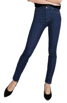 Free shipping and returns on Madewell 10-Inch High Waist Skinny Jeans (Lucille) at Nordstrom.com. These mod stretch-denim skinnies in a clean, dark-blue wash have a comfortably high waist.