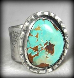 @Lorraine Siew Nuccio....thought of you when I found this pin.  Nevada Turquoise Ring...beautiful color