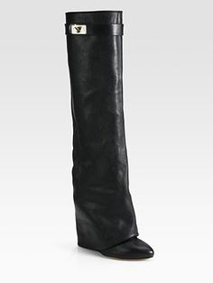 Givenchy - Leather Knee-High Sheath Boots - How do I become independently wealthy so that I can treat myself to these?