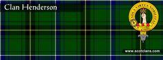 Clan Henderson Tartan and Crest    http://www.scotclans.com/scottish_clans/clan_henderson/