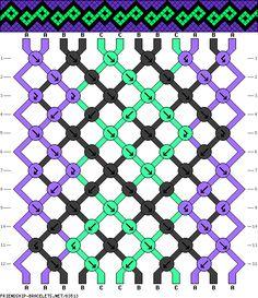 Squares Friendship Bracelet Pattern