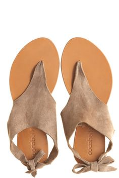 Suede Tie Sandal::NEW ARRIVALS::ACCESSORIES::Calypso St. Barth