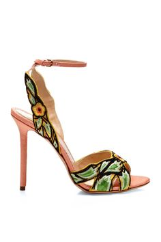 Paradise Embroidered Silk-Shantung Sandals by Charlotte Olympia Don't talk to me when I'm wearing these.I'm thinking about how good I look! Dream Shoes, Crazy Shoes, Me Too Shoes, Pretty Shoes, Beautiful Shoes, Hot Shoes, Shoes Heels, Strappy Shoes, Heeled Sandals