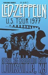 Rock and Roll Concert Posters   LED Zeppelin Concert Poster Photo English Rock and Roll Band Stairway ...