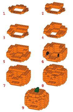 Build your own 3D Lego Jackolantern!